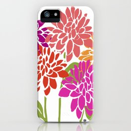 DAHLIAS iPhone Case