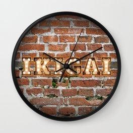 IKIGAI - Brick Wall Clock