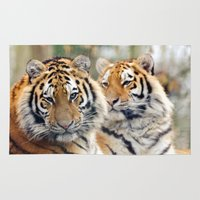 tigers Area & Throw Rugs featuring Tigers by Jez22