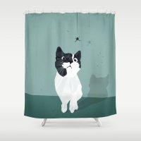 spider Shower Curtains featuring Spider by Jacek Muda