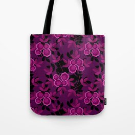 Floral pattern with flowers gzhel Tote Bag