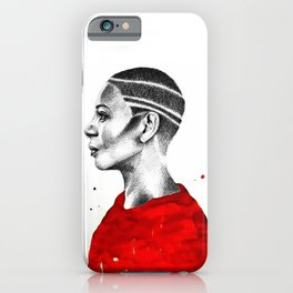 Red Profile iPhone Case