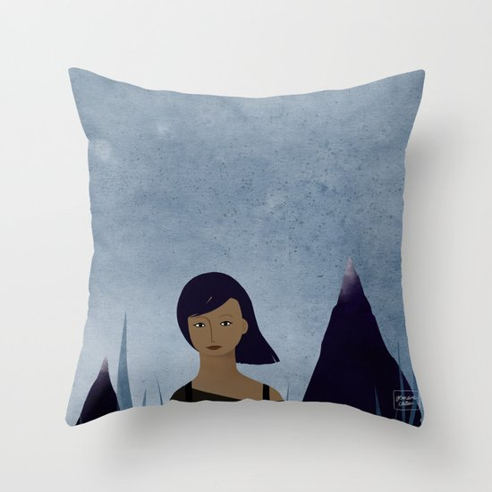 I am a mountain Throw Pillow