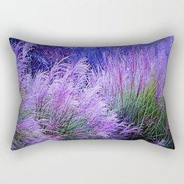 Purple long grass Rectangular Pillow