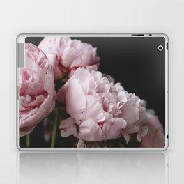 Peonies on black Laptop & iPad Skin