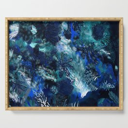 Blue Coral Serving Tray