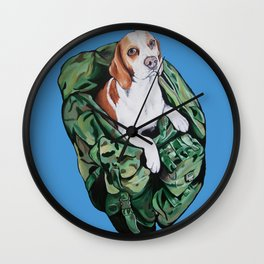 Readying for Battle - Ellie the Beagle Wall Clock