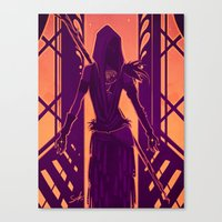 dragon age Canvas Prints featuring Dragon Age: Morrigan by Sara Cuervo