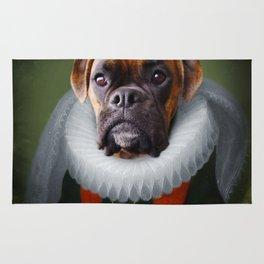 Queen Charlie - Boxer Dog Portrait Rug