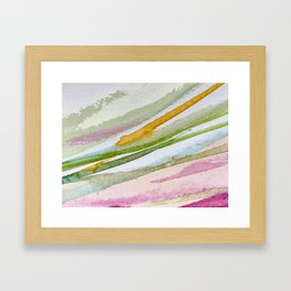Colorful Brushstrokes Watercolor Painting Framed Art Print
