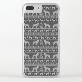 Ugly Christmas sweater | Lagotto Romagnolo grey Clear iPhone Case