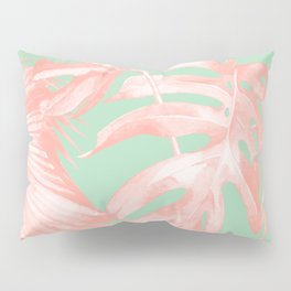 Island Love Seashell Pink + Mint Green Pillow Sham