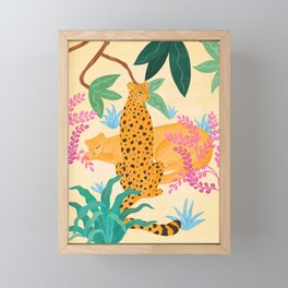 Panthers in Magical Garden Framed Mini Art Print