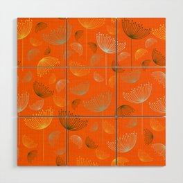 Mid-Century Modern Art Umbrella Flowers 1.4 Wood Wall Art