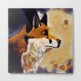 Foxes at the door Metal Print