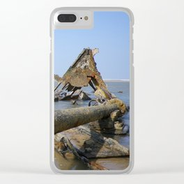STEAMSHIP BELEM SHIPWRECK PROPELLER SHAFT CORNWALL Clear iPhone Case