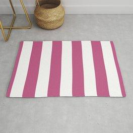 Large Bashful Pink and White Vertical Cabana Tent Stripes Rug