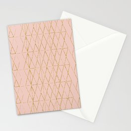 gold and blush geometric Stationery Cards