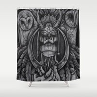 death Shower Curtains featuring Death by Mrtn Ljmn