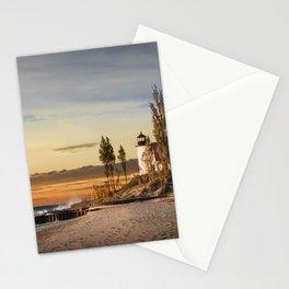 Point Betsie Lighthouse at Sunset on Lake Michigan near Frankfort Michigan No.66032 Fine Art Lightho Stationery Cards