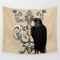 raven Wall Tapestries featuring Raven by Кaterina Кalinich