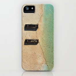 Blue on Wall iPhone Case