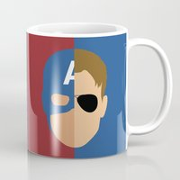 steve rogers Mugs featuring Captain Rogers by Nick Kemp