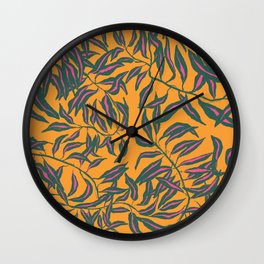 Tickled Leaves Wall Clock