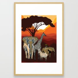Jungle Jumble Framed Art Print