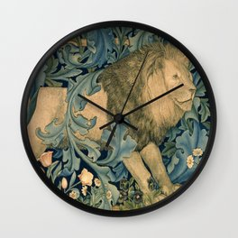 """William Morris """"Forest - Lion"""" Wall Clock"""