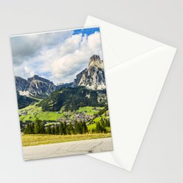 on the roads of dolomites Stationery Cards