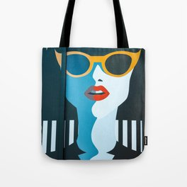 Girl with sunglasses Tote Bag