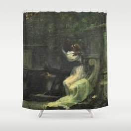Classical masterpiece: The Kiss by Lionello Balestrieri Shower Curtain
