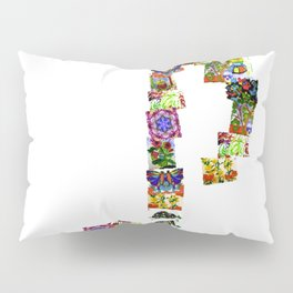 A Music Note Collaboration Of Art Collage Pillow Sham
