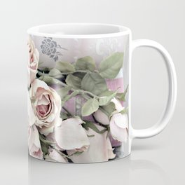 Shabby Chic Dreamy Pink Roses Cottage Floral Decor Coffee Mug
