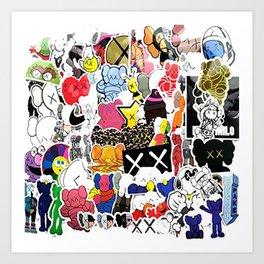 kaws 1 Art Print