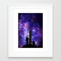 2001 a space odyssey Framed Art Prints featuring 2001: A Space Odyssey  by Joshua S