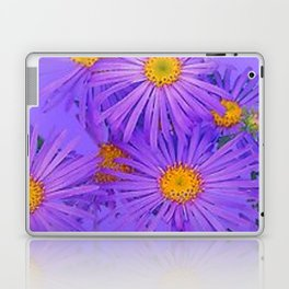 LAVENDER PURPLE ASTER FLOWERS ART Laptop & iPad Skin