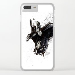 BOBA FETT INKS Clear iPhone Case