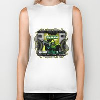 doom Biker Tanks featuring DOOM by D.Armendariz