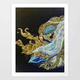 Saturn's Dragon Art Print