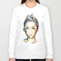 miley cyrus Long Sleeve T-shirts featuring Miley Cyrus by caffeboy