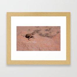 Big Lizard Framed Art Print