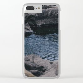 Dark Pools Clear iPhone Case