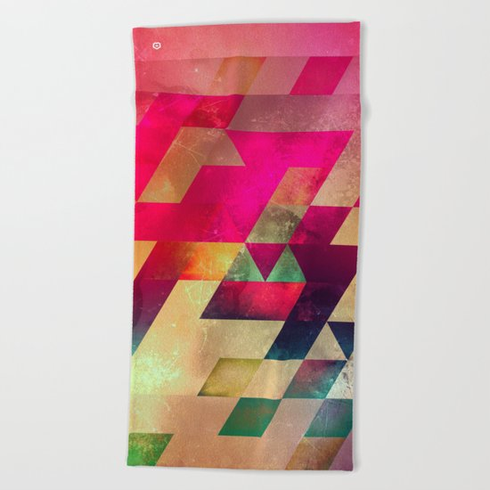 syx nyx Beach Towel