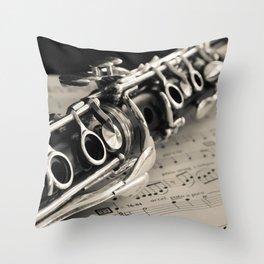 Clarinet Throw Pillow