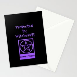 Protected By Witchcraft Pagan Wiccan Cover Stationery Cards