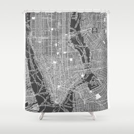 New York City Vintage Map Shower Curtain