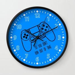Video Games Blue Wall Clock
