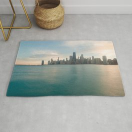 Tonight -Chicago Skyline Photography Rug